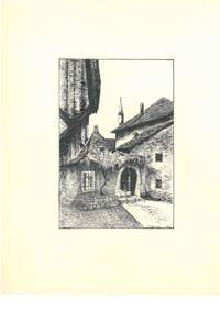 Trebinje [Trebing, Bosnien und Herzegowina, Republika Srpska], ca. 1950. Schwarze Tusche und Bleistift auf weißem Maschinbütten. Vom Künstler r. u. mit schwarzer Tusche betitelt und monogrammiert \