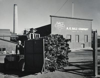 """San Francisco: 1955. Single black and white photograph, 13 1/4 x 10 3/8"""", mounted on 1/8"""" thick ..."""