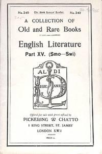 Catalogue 240/n.d. : English Literature Part XV ( Smo-Swi)