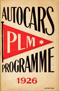 Autocars Programme PLM 1926 (Paris Lyon Mediterranean) with Related Ephemera