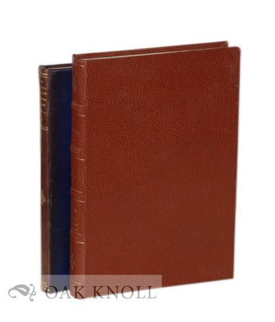 London: Maggs Bros, 1934. brown leather, four raised bands with spine gilt; blue leather with spine ...