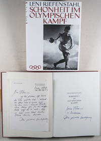 Schönheit im Olympischen Kampf (AUTHOR'S PRESENTATION COPY TO ADOLF HITLER ) [WITH] Handwritten letter to Hitler from Leni Riefenstahl