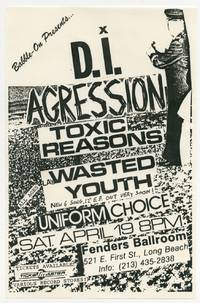 [Punk Flyer]: Babble-On Presents D.I., Agression, Toxic Reasons, Wasted Youth, and Uniform Choice