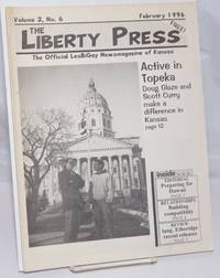 image of The Liberty Press: the official LesBiGay newsmagazine of Kansas vol. 2, #6, February 1996; Active in Topeka
