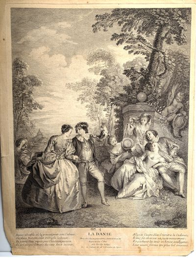 La Danse. Engraving by Pierre Filloeul (1696–after 1754) after a painting by J.B. Paterre (1695 - ...