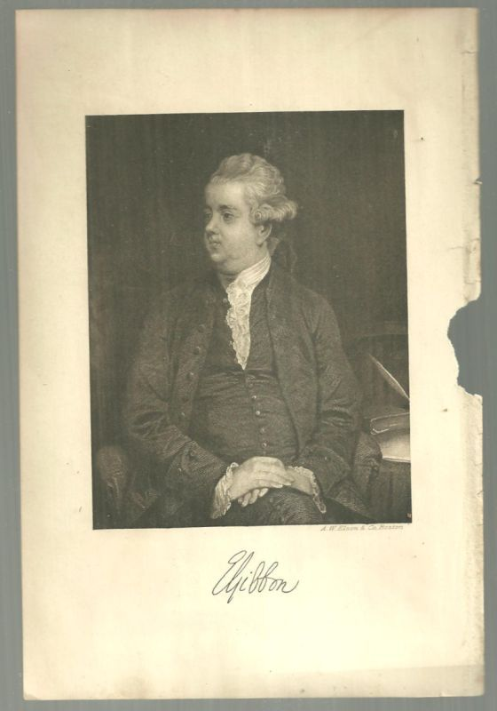 Image for VINTAGE PICTURE OF EDWARD GIBBON