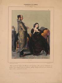 """image of Pourboires de Femmes.  En Mature de Sentiment. 2e Seri, """"Allen au ball de l'Opera...""""  Lithograph"""