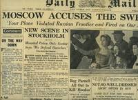 Daily Mail Original Broadsheet Newspaper Wednesday June 18th, 1952. Lead Story to the Front Cover: Moscow Accuses The Swedes, Your Plane Violated Russian Frontier and Fired on Our Aircraft