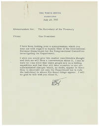 Important Archive of President Truman Letters Combatting McCarthy's Red Scare: I am a sure as I am alive that these people are on a fishing expedition and they will take occasion to use unsubstantiated charges