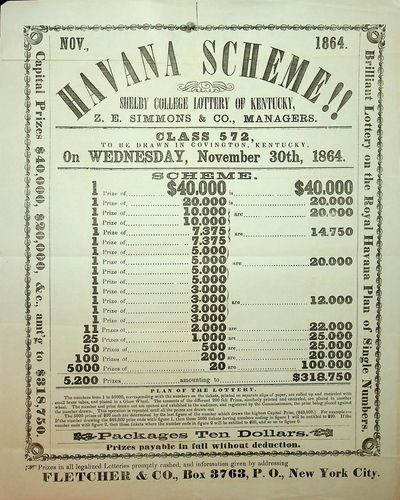 New York, N.Y.: Fletcher & Co, 1864. Near Fine. 9 5/8 x 11 7/8 inches. Printed in black ink with orn...