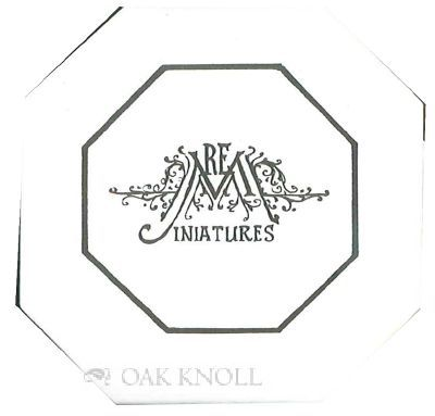 New Britain, CT: REM Miniatures, 1996. self paper wrappers, white paper slide-on case with paper cov...