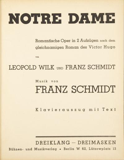 Berlin: Dreiklang - Dreimasken , 1913. Folio. Modern black boards with paper title label to spine. 1...