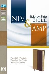 NIV, Amplified, Parallel Bible, Leathersoft, Tan/Burgundy: Two Bible Versions Together for Study...