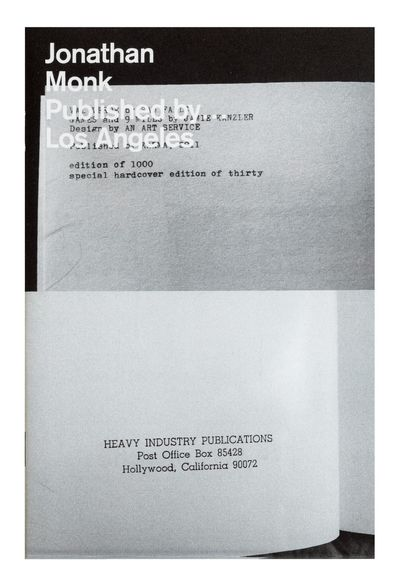 Full-bleed black & white illus. throughout. Eight unnumbered leaves. Small 8vo, pictorial wrappers, ...