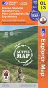 image of Brecon Beacons National Park - Eastern Area (OS Explorer Map Active)