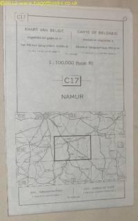 Namur. C17 1:100000 Map. Kaart Van Belgie/Carte De Belgique