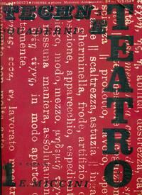 Quaderni di Tèchne, n° 5, marzo 1970. Teatro 1