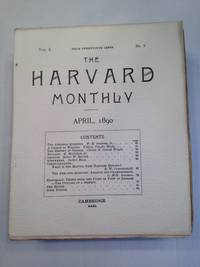 image of THE HARVARD MONTHLY VOLUME X NUMBER 2 APRIL 1890.