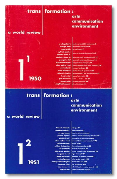 New York: Wittenborn, 1952. Whole numbers one through three (all published). Oblong small quarto. Pr...