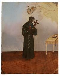 Mexican Retablo Painting of St. Benedict of Palermo,