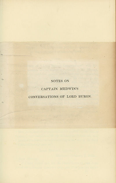 , 1824. First edition. NCBEL III, 297; Chew, Byron in England, page 211. Fine copy.. 8vo, modern red...