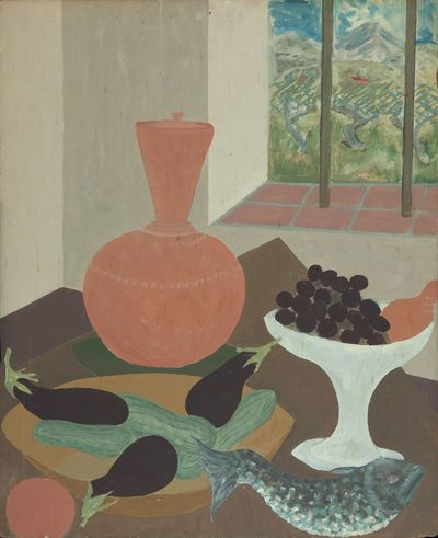 Rexroth spent most of 1959 in Aix-en-Provence, where this painting is clearly set. A palette of whit...