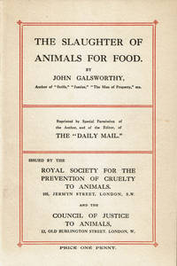 image of THE SLAUGHTER OF ANIMALS FOR FOOD. (Cover title).