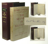 image of THE MEANING OF RELATIVITY: FOUR LECTURES DELIVERED AT PRINCETON UNIVERSITY, MAY, 1921. Signed