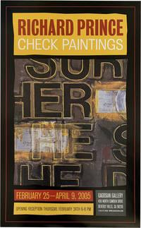 Richard Prince: Check Paintings (poster)