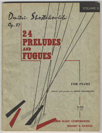 [Op. 87]. 24 Preludes and Fugues for piano English and German Preface and Editing by Irwin Freundlich ... Volume II