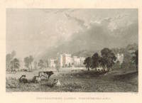 View of  the Country House, Featherstone Castle after T. Allom by J. Tingle.