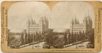 Cincinnati, Ohio: Whiting View Company, 1900. Stereoview. Silver gelatin photograph on an tan curved...