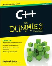 C++ for Dummies by Stephen R. Davis - Paperback - 2014 - from ThriftBooks (SKU: G111882377XI3N00)