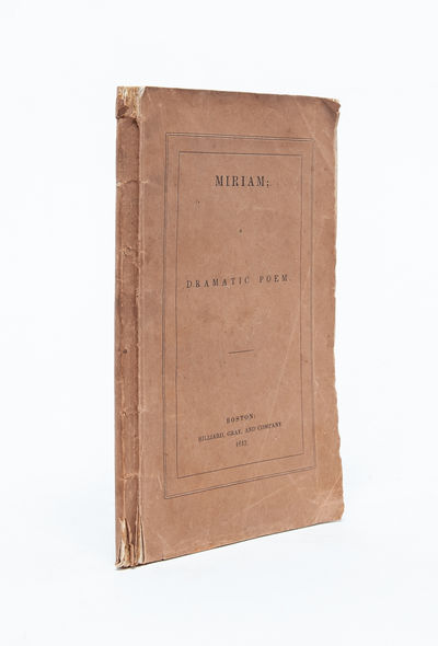 Boston: Hilliard, Gray and Company, 1837. First edition. Original printed paper wrappers. Spine roll...