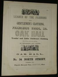 1853 Three Vintage Advertisements for Clothiers, Steam & Gas Pipes ,  Jewelry