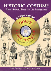 HISTORIC COSTUME : From Ancient Times to the Renaissance : CD-ROM & BOOK