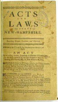 ACTS AND LAWS OF THE STATE OF NEW-HAMPSHIRE