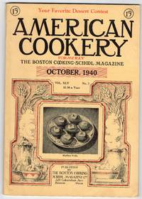 Vintage Issue of the American Cookery Magazine for October 1940