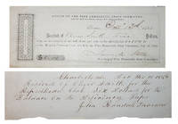 Early Republican Party Receipts - 1854 & 1856