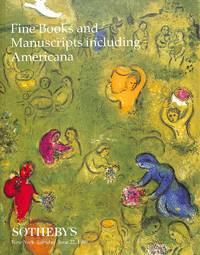Sale 7332, 22 June 1999: Fine Books and Manuscripts Including Americana