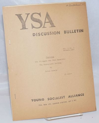 New York: Young Socialist Alliance, 1966. 11p., stapled wraps, 8.5x11 inches, mimeographed, lightly ...