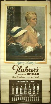1948 Calendar. Hope of the World. Fluhrer's Holsum Bread the fresher, richer loaf