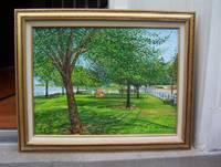 """image of Original Artwork Entitled """"Billy Joel's Park"""""""