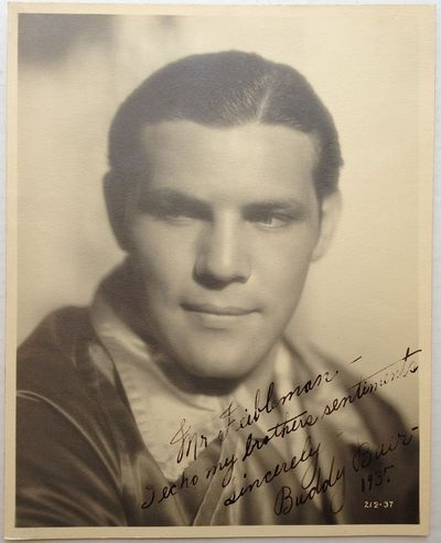 Not published, 1937. Unbound. A handsome 9.5 x 7.75-inch head shot of Baer with his hair slicked bac...