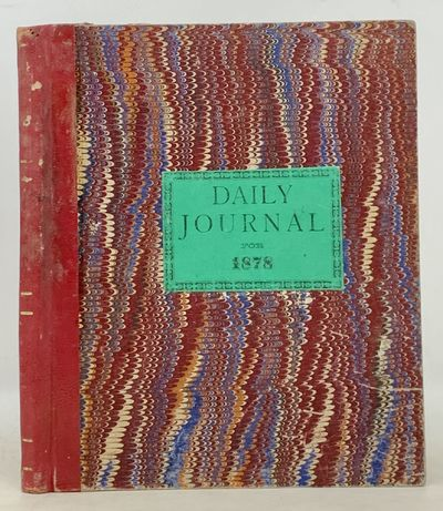 , 1878. Publisher's red cloth spine over red marbled paper boards, printed green paper title onlay t...