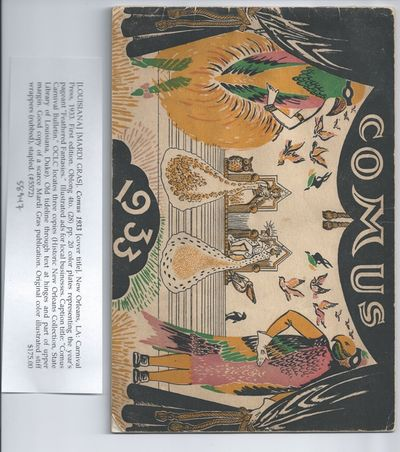 New Orleans, LA: Carnival Press, 1933. First edition. Oblong 4to. (28) pp. 20 color plates represent...
