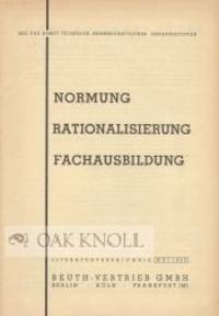 Berlin, Köln, and Frankfurt: Beuth-Vertrieb GmbH, 1963. self paper wrappers. Beuth-Vertrieb. 12mo. ...