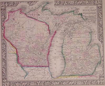 Philadelphia: Mitchell, Samuel Augustus Jr., 1864. unbound. very good. Map. Engraving with original ...