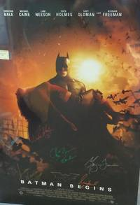 image of FULL SIZE MOVIE POSTER 'BATMAN BEGINS', *SIGNED* BY CAST (ORIGNAL POSTER)