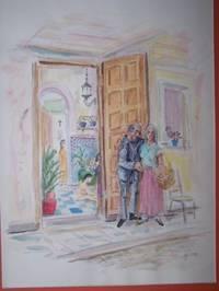 "image of Original Artwork Entitled ""Family in Rota, Spain"""